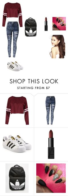 """Untitled #234"" by timcaaa on Polyvore featuring adidas Originals, NARS Cosmetics and adidas"