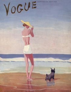 Love this vintage Vogue illustration