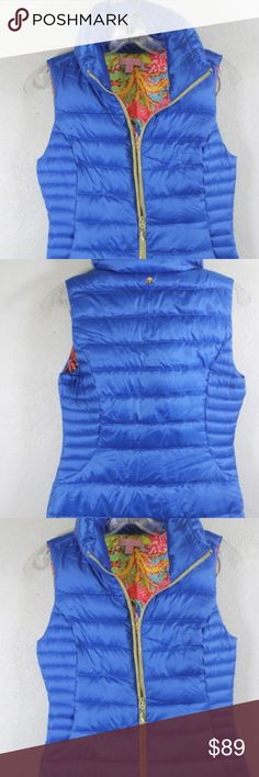 Lilly Pulitzer Blue Padded Snow Vest XS Like new Lilly Pulitzer Padded Snow Vest. Size XS. Zipper works in excellent condition.  Open to all offers! Lilly Pulitzer Jackets & Coats Vests