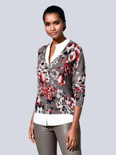 0fba553a2e87cd Alba Moda Pullover im Alba Moda exklusivem Print