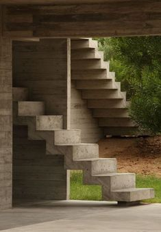 Haus an der Costa Esmeralda Bak Arquitectos Treppen Bak Arquitectos Modern Stairs Arch … - Eingang Staircase Handrail, Stair Railing, Staircase Design, Stair Design, Railings, Stairs Without Railing, Take The Stairs, Indoor Railing, Outdoor Stairs