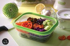 Vegane Lunchbox mit Macadamia Dressing