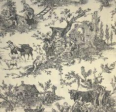 Image detail for -Chateau de Loir Toile Fabric Pastoral scenic Toile de Jouy fabric in ...