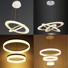 60W-80W Warmweiß LED Kronleuchter Hängeleuchte Pendelleuchte Deckenlampe Lüster in Möbel & Wohnen, Beleuchtung, Deckenlampen & Kronleuchter | eBay!