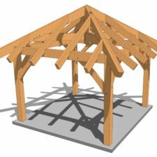 8x12 Post And Beam Outbuilding Gazebo Plans Timber Frame