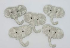 Maztex Designs Marie New handmade ceramic cabochons jewellery making bead embroidery components elephants