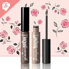 Bring on the brows! gimme brow is an innovative brush-on fiber gel that adheres to skin  hair…creating brows where before there were none! #benefitcosmetics