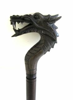 Carved Wooden Dragon Walking Stick