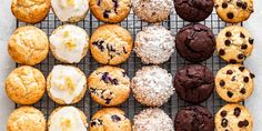 A fresh, delicious muffin that can be easily adapted to your favorite flavor. Try all six: chocolate chip, double chocolate, lemon poppyseed, blueberry, and coffee cake muffins. Sugar Free Recipes, Donut Recipes, Dessert Recipes, Keto Desserts, Coffee Cake Muffins, Pumpkin Spice Muffins, Double Chocolate Muffins, Sugar Free Chocolate, Sugar Free Muffins