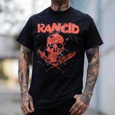 Rancid Skull Bats Band Shirt Band Shirts, Quality T Shirts, Bats, Skull, Printed, Mens Tops, Cotton, Design, Products