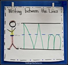 Writing Between the Lines Anchor Chart with Anchor Chart Holders