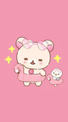 Rilakkuma Wallpaper, Cute Characters, Fictional Characters, Wallpaper Iphone Cute, Hello Kitty, Girlfriends, Cute Wallpapers For Iphone