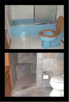 Room for doorless shower here? - Bathrooms Forum - GardenWeb