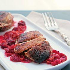 Roasted Duck with Cranberry, Orange & Cardamom Glaze