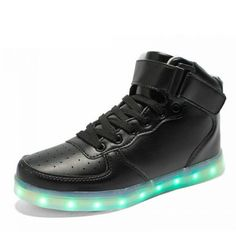 LED Shoes high top black women