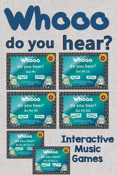 Elementary Music Melody Games - Your students will love these interactive games while aurally listening to a melody and choosing the correct pattern! Fun lesson and activity. Use with or without a Smartboard!
