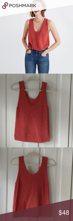 Madewell Sweater Tank XS Great spring and fall top in excellent condition! Only wore once. Madewell Tops Tank Tops