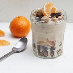 Sinterklaas in een glas! Best wel lekker. Hoe je het maakt?  eefsfood.nl  #ontbijt #ijs #eefsfood #mandarijn #kruidnoten #chocolade