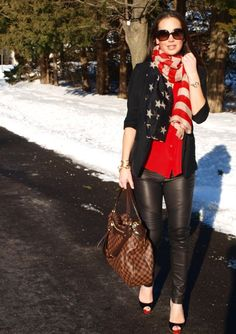 Gorgeous outfit from fashion blogger Carly of Thirty Something Fashion. Scarf and all jewelry from Susie Raine Luxe Boutique! Hurry and get yours today, it's an exclusive and only a few are left! xo