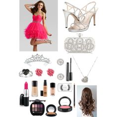 Untitled #20 by katelyn-8-m on Polyvore featuring polyvore fashion style Caparros Marchesa Rina Limor Marc by Marc Jacobs Ice Kate Marie MAC Cosmetics