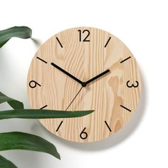 numbers wooden wall clock by byshop | notonthehighstreet.com