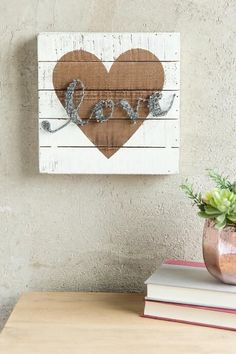 Copper Love String Art Wall Decor