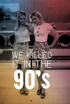 We killed it in the 90's... #romyandmichelle #90s