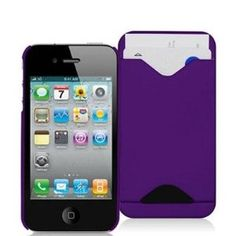 I just ordered this! Rose Purple Credit Card ID Rubberized Snap-On Hard Back Cover Case Cover for For ATT / Verizon Apple iPhone 4 4G by Electromaster
