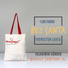 Promosyon çantanın en doğal hali İşte Çanta'da. %100 pamuk bez çantalar uzun süreli kullanım, tanıtım ve reklam için uygundur. #bezcanta #promosyon #dogal #tanitim #reklam #totebag