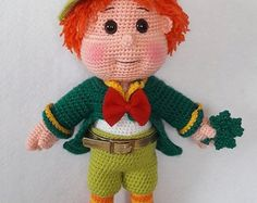 Free Amigurumi Leprechaun Pattern : Free leprechaun crochet pattern and tutorial by sue pendleton