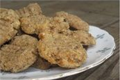 flourless, sugar free, gluten free banana nut breakfast cookies - sub 1 c almond meal and 1/3 c coconut flakes for almond meal and quinoa