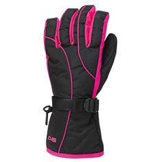 Arctic Star Windchill Women's Ski Glove - Black/Pink