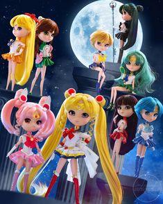 "quenserenity: "" almost all of the sailor moon crystal pullip dolls Super Hero shirts, Gadgets & Accessories, Leggings, lovers Pullip Sailor Moon, Sailor Moon Toys, Sailor Moon Fan Art, Sailor Moon Cosplay, Sailor Moon Manga, Sailor Moon Crystal, Sailor Jupiter, Sailor Venus, Sailor Mars"
