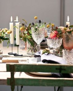 """Bryllupsmessen """"Den Store Dag"""" - A Table Story A Table, Table Settings, Candles, Table Decorations, Dining, Party, Inspiration, Furniture, Beautiful"""