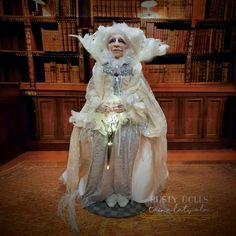 Witch - Art Doll - Fantasy Doll - White Queen - Witch Art Doll - Handmade - Doll - Fantasy - Whimsical - OOAK Doll - Witch Doll - by RustyDolls on Etsy Ooak Dolls, Art Dolls, Witch Art, White Queen, Hand Shapes, Shades Of White, Pastel Colors, Whimsical, Art Pieces