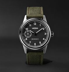 Vintage Watches Weiss Automatic Issue Stainless Steel And Cordura Field Watch - Field Watches, Swiss Army Watches, Citizen Watch, Automatic Watch, Watch Brands, Vintage Watches, Vintage Rolex, Luxury Watches, Quartz Watch