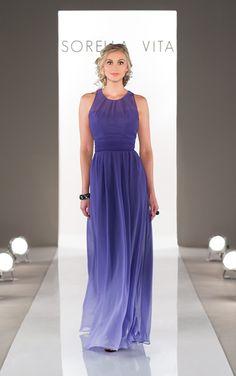 Ombre Bridesmaid Dress from Sorella Vita Style 8459 available at Carrie Karibo Bridal #carriekaribobridal