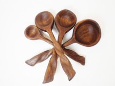 black walnut measuring spoon set