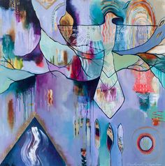 Magic Maker Flora Bowley - Week Day Magic Maker Flora Bowley - Daring Adventures in Paint: Instant Access! Abstract Nature, Abstract Images, Abstract Art, Abstract Paintings, Flora Bowley, Purple Painting, Indian Art, Art Forms, Vintage Art