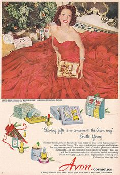 Vintage Avon Christmas Ad Loretta Young 1952 by hmdavid, via Flickr