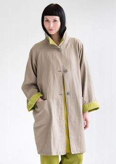 Coat in linen/cotton – Best outerwear – GUDRUN SJÖDÉN – Webshop, mail order and boutiques | Colorful clothes and home textiles in natural materials.