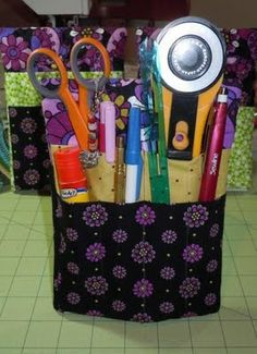 Quilting tool caddy Quilts and Pieces: June 2011