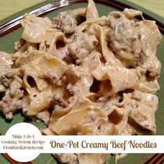One-Pot Creamy Beef Noodles recipe for the Ninja 3-in-1 Cooking System - From Val's Kitchen