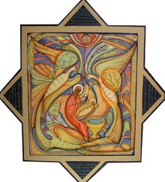 Nativity contemporary icon by Mykola Rybenchuk of Lviv, Ukraine