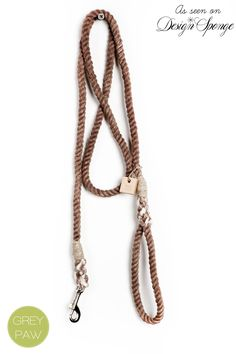 Dyed Rope dog leash dog collar pet accessory dog lead: Small brown cotton rope leash. $35.00, via Etsy.