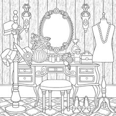 Cute Coloring Pages, Cartoon Coloring Pages, Printable Coloring Pages, Adult Coloring Pages, Coloring Books, Peacock Wall Art, Graph Paper Art, Drawing Sketches, Drawings