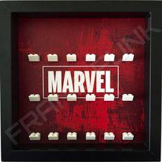 Marvel Black Frame Lego Minifigure Display
