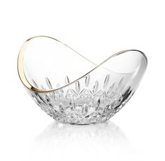 Waterford - Lismore Essence Gold Ellipse Bowl (Available at Michael C. Fina)