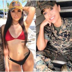 Beautiful badasses in (and out of)uniform : theCHIVE Hot Country Girls, Military Girl, Female Soldier, Military Women, Girl With Curves, Girls Uniforms, Girl With Hat, Looking For Women, Bikini Girls