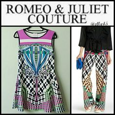 Must Have! Sleeveless Print Dress Easy style! One piece pullover dress is a staple for any closet of the girl on the go. Smoke/pet-free home.✈ Fast Shipping ✈  Thanks for browsing my closet! Romeo & Juliet Couture Dresses